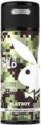 Playboy Wild Skintouch férfi Deo 150ml (6/zsugor, 12/karton)
