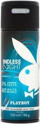 Playboy Endless Night Férfi Deo 150ml (6/zsugor, 12/karton)