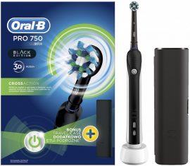 Braun Oral-B PRO 750 Black Cross Action + útitok Elektromos fogkefe (6/karton)