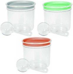 Curver Fűszertartó 1L adagoló kanállal Vegyes színek (szürke, barack, menta) (12/karton)