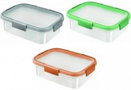 Curver Smart Fresh tégla 1l ételtartó Vegyes színek (szürke, barack, menta) (6/karton)