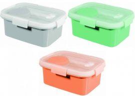 Curver Smart to Go tégla 1,2l ételtartó Vegyes színek (szürke, barack, menta) (6/karton)