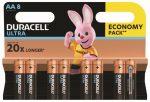 DURACELL MX 1500 K8 ULTRA AA Ceruza 8 db (12/karton)