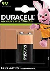 DURACELL HR 22 B1 9V tölthető elem NiMH 170 mAh 1 db (10/karton)