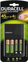 DURACELL CEF 14 NiMH töltő + 2 db AA 1300mAh + 2 db AAA 750mAh (6/karton)