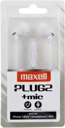 Maxell Plugz + MIC fehér fülhallgató (8/karton)