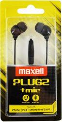 Maxell Plugz + MIC fekete fülhallgató (8/karton)