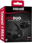 Maxell Mini Duo TWS BT vezeték nélküli fülhallgató fekete