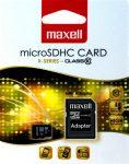 Maxell MICRO SD kártya, 8GB (adapteres) (10db/karton)