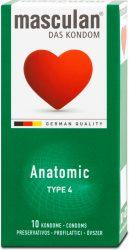 """Masculan """"4"""" gumióvszer 10 db-os anatómiailag formált (10/karton)"""