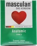 """Masculan """"4"""" gumióvszer 3 db-os anatómiailag formált (16/karton)"""