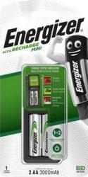 ENERGIZER Mini töltő + 2 db AA Power+ 2000mAh akku (4/karton)