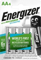 ENERGIZER Extreme B4 AA 2300mAh ceruza akku 4 db (12/karton)