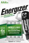 ENERGIZER Power+ B4 AAA 700mAh mikro akku 4 db (12/karton)