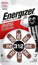 ENERGIZER Zinc Air 312 DP-8 8 db (6/karton)