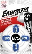 ENERGIZER Zinc Air 675 DP-4 4 db (6/karton)