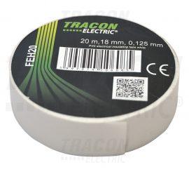 PVC Szigetelőszalag 20m*18mm FEHÉR (10/zsugor, 250/karton)
