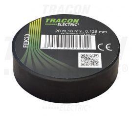 PVC Szigetelőszalag 20m*18mm FEKETE (10/zsugor, 250/karton)