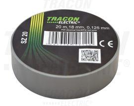 PVC Szigetelőszalag 20m*18mm SZÜRKE (10/zsugor, 250/karton)