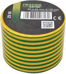 PVC Szigetelőszalag 20m*50mm ZÖLD-SÁRGA (100/karton)
