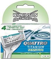 Wilkinson Quattro Titanium Sensitive férfi borotvabetét 4 db-os (10/karton)