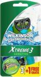 Wilkinson EXTREME3 Sensitive 3+1 db-os eldobható borotva (10/karton)