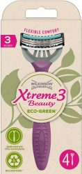 Wilkinson EXTREME3 Beauty ECO Green 4 db-os női eldobható borotva (10/karton)